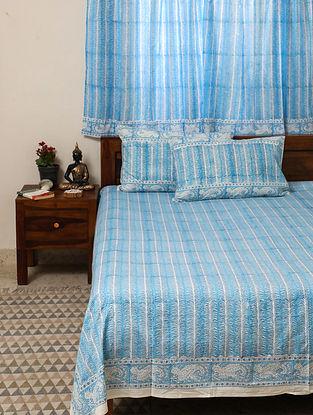 Sky Blue King Bedsheet Set