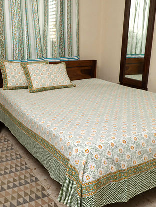 Green King Bedsheet Set