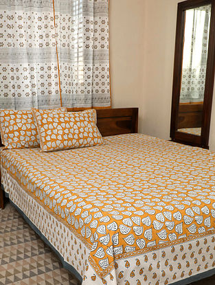 Rustic Brown King Bedsheet Set