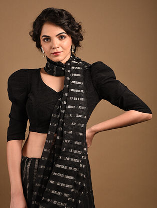 Black Handcrafted Cotton Corduroy Blouse