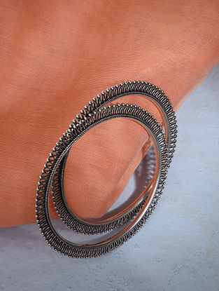 Tribal Silver Bangles Set (2/6)
