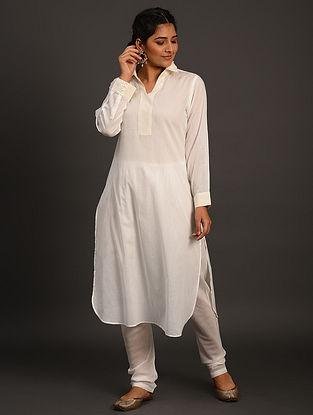 Off White Cotton Kurta