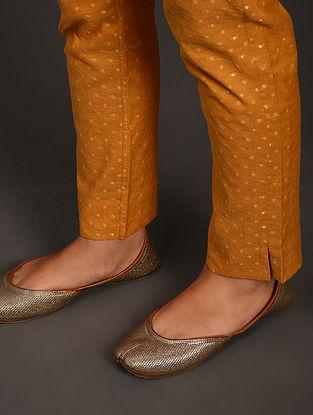 Mustard Cutwork Cotton Pants