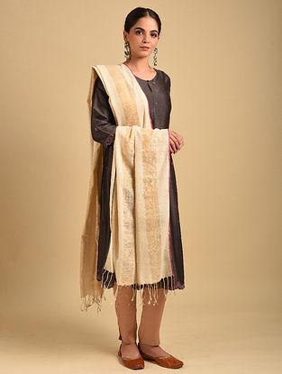 Off White Handwoven Cotton Dupatta