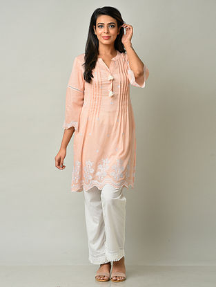 Peach Cotton Tunic with Pants