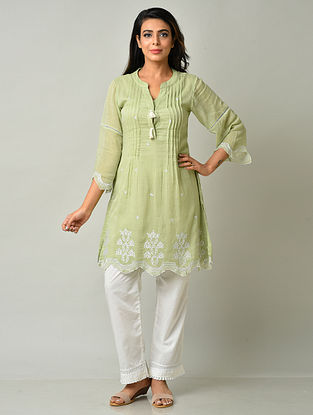 Green Cotton Tunic with Pants