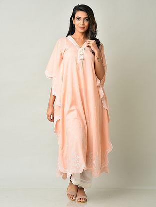 Peach Cotton Kaftan with Pants