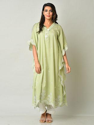 Green Cotton Kaftan with Pants