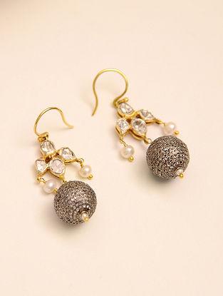Gold Tone Diamond Polki Earrings