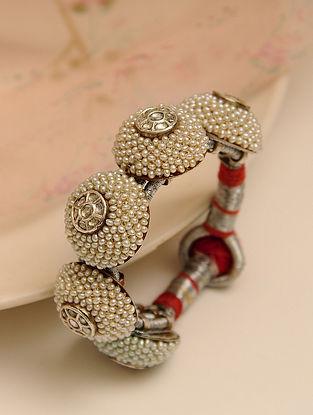 Pukhraj Poochi Bracelet with Pearls