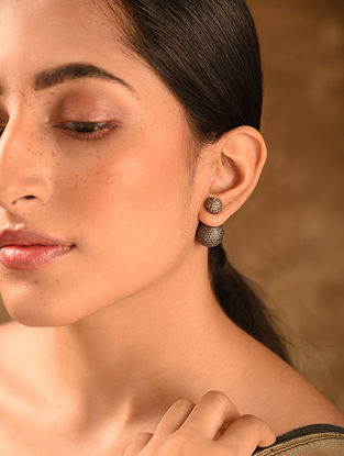 Gold Tone Diamond Earrings
