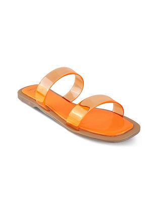 Orange Handcrafted Flats