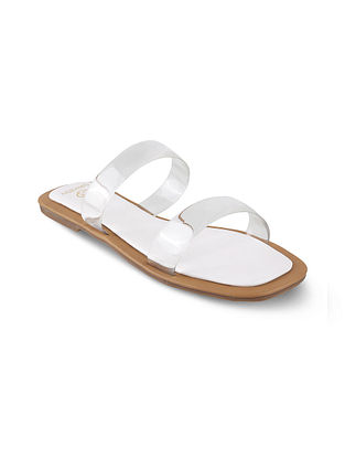 White Handcrafted Flats