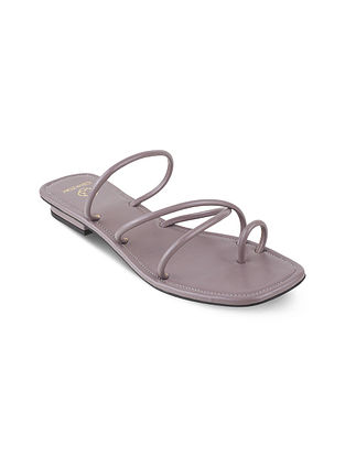 Grey Handcrafted Flats