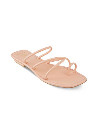 Peach Handcrafted Flats