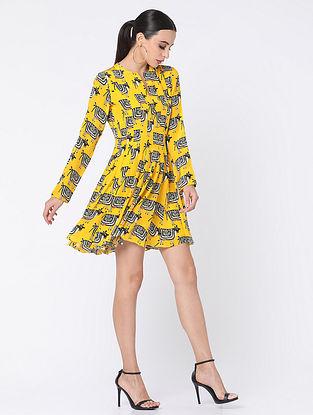 Yellow Crepe Dress