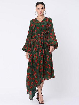 Green Crepe Dress