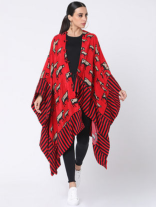 Red Crepe Jacket