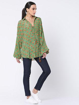 Mint Green Crepe Shirt