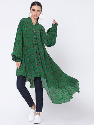 Green Crepe Shirt