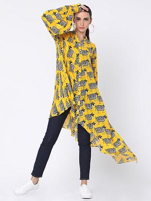 Yellow Crepe Shirt