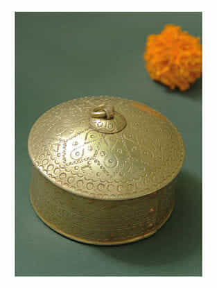 Handmade Brass Dabbi(D -3.8in ,H -2.5in)