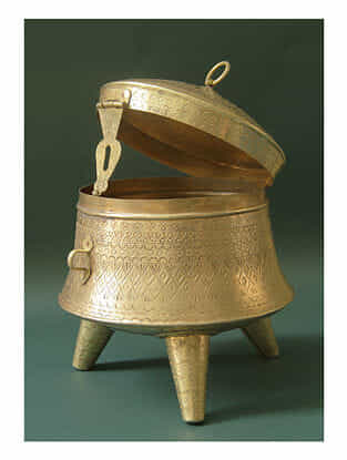 Handmade Brass Dabbi(D -7.8in ,H -8.2in)