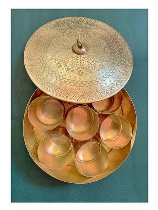 Handmade Brass Masala Dabba