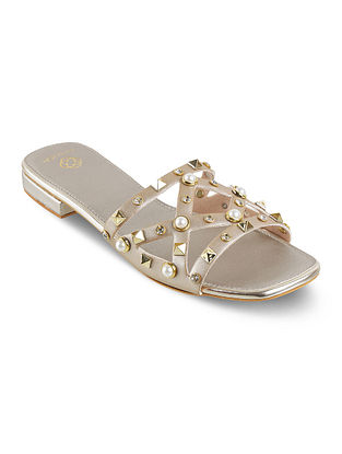 Light Gold Hndcrafted Flats
