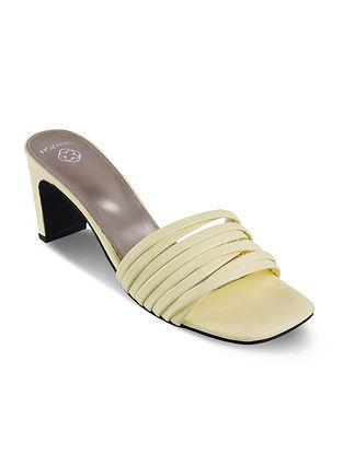 Lemon Handcrafted Block Heels