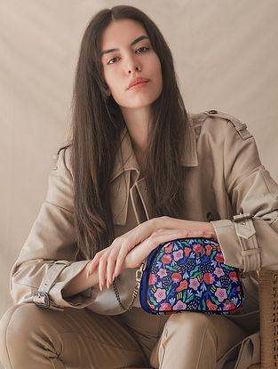 Multicolored Printed Vegan Leather Sling Bag