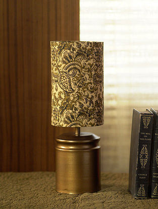 Antique Gold Vande Kalamkari Table Light (Dia-5in, H-14in)