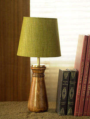 Green and Brown Qutub Table Light (Dia-8in, H-17.7in)