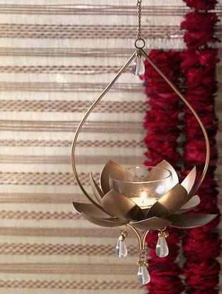 Gold Apsara Hanging T Light (L-7.5in, W-7in, H-22in)