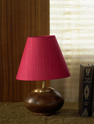Pink and Brown Abida Table Light (Dia-6in, H-18.5in)