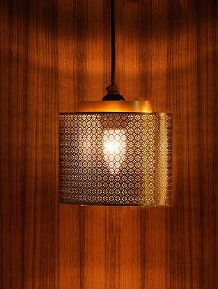 Antique Gold Rumi Pendant Light (L-8in, W-5.5in, H-9in)