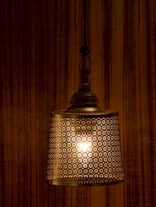 Antique Gold Ruhani Pendant Light (L-7in, W-5in, H-13.5in)