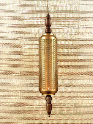 Antique Gold Ruhani Hanging T Light (Dia-4in, H-20in)