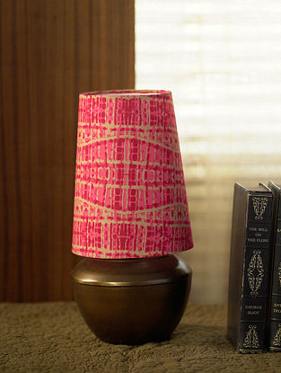 Brown and Pink Shubha Table Light (Dia-6.5in, H-12.5in)