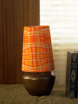 Brown and Orange Shubha Table Light (Dia-6.5in, H-12.5in)