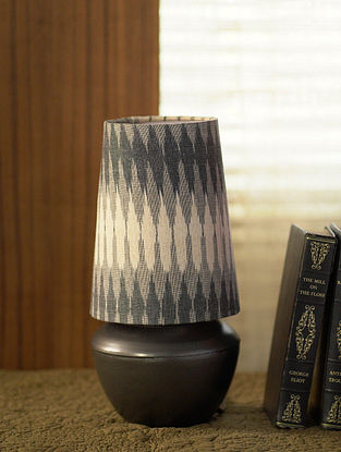 Silver and Grey Shubha Table Light (Dia-6.5in, H-12.5in)