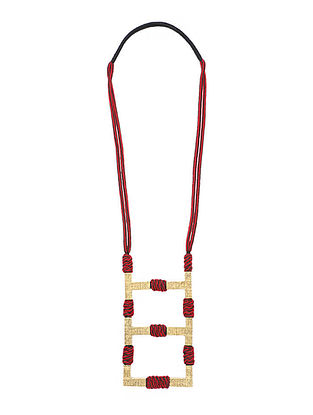 Red Gold Tone Handcrafted Necklace