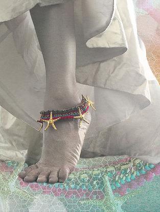Pink Blue Handcrafted Anklet