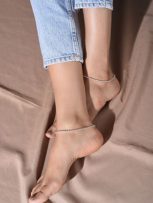 Tribal Silver Anklets (Pair of Two)