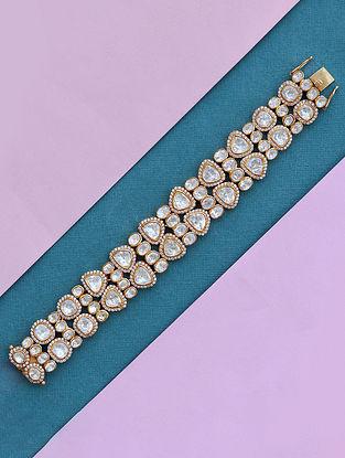 Gold Tone Polki Silver Bracelet