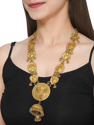 Gold Tone Polki Silver Necklace