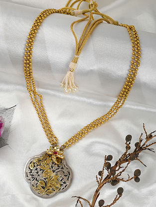 Dual Tone Silver Necklace