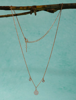 Rose Gold Tone Sterling Silver Necklace
