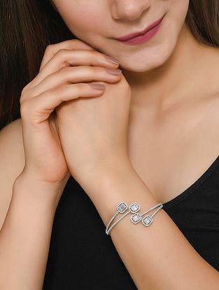 Polki Silver Bracelet