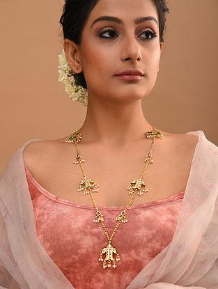 White Gold Tone Kundan Necklace